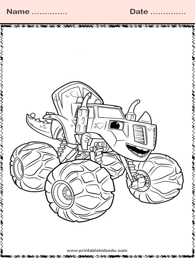 Blaze and the Monster Machines Coloring Images Zeg