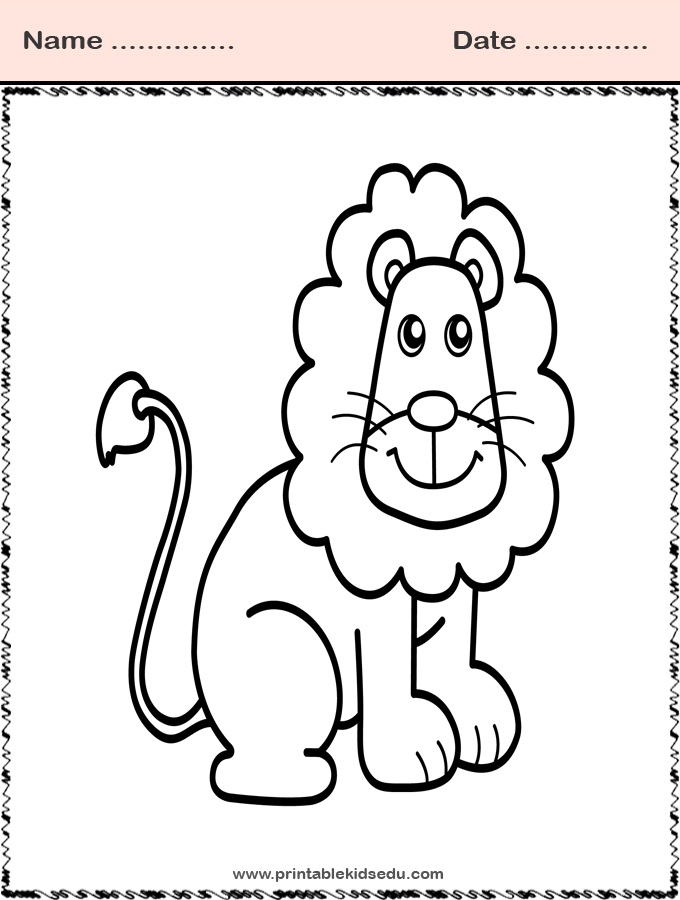 Coloring Pages Animal Lion