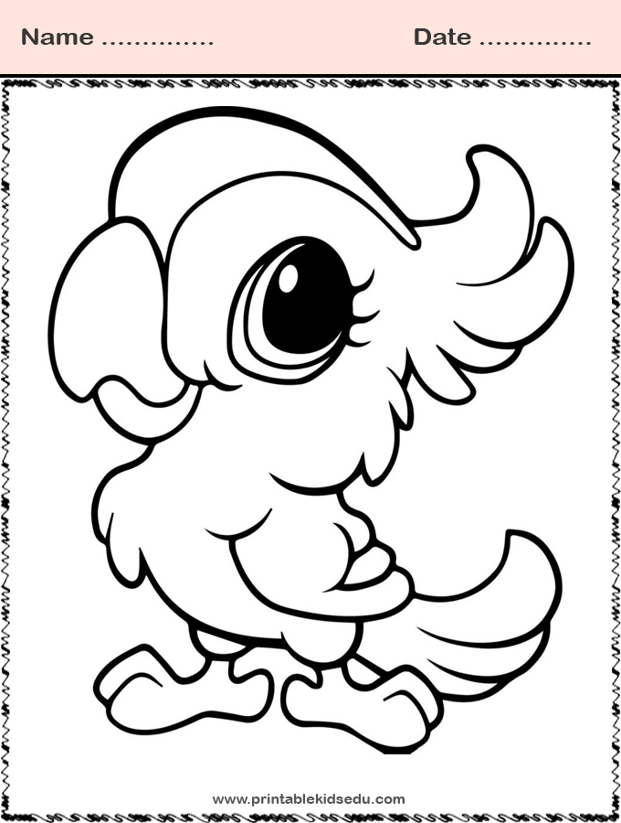 Coloring Pages Animal Parrot