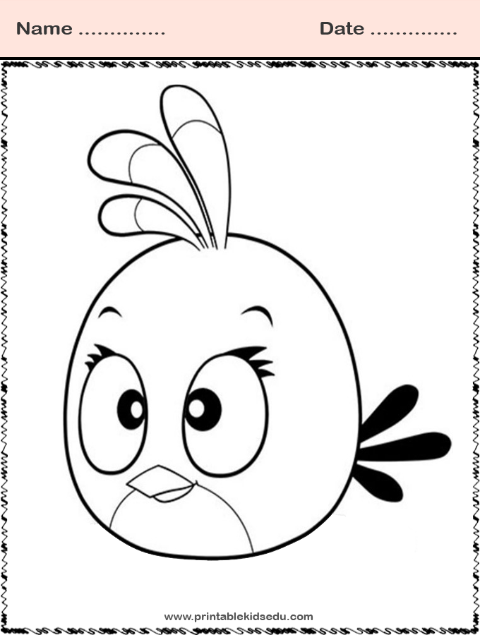 Free Printable Angry Bird Coloring Pages