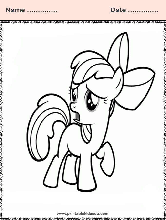 Free Printable Coloring Little Pony