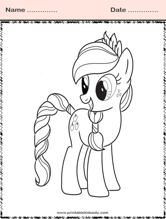 Free Printable Coloring My Little Pony