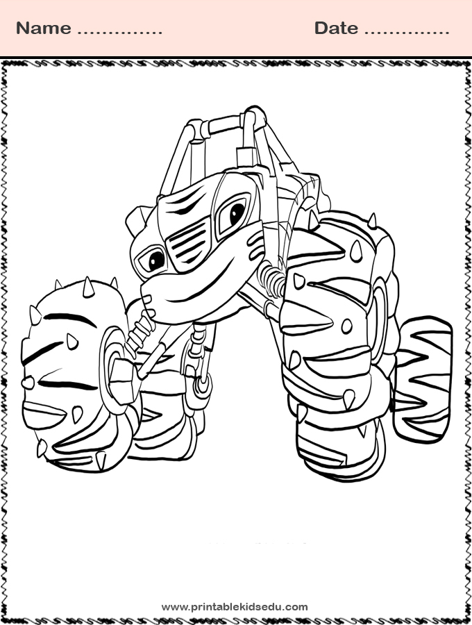 Printable Blaze and the Monster Machines Coloring Images