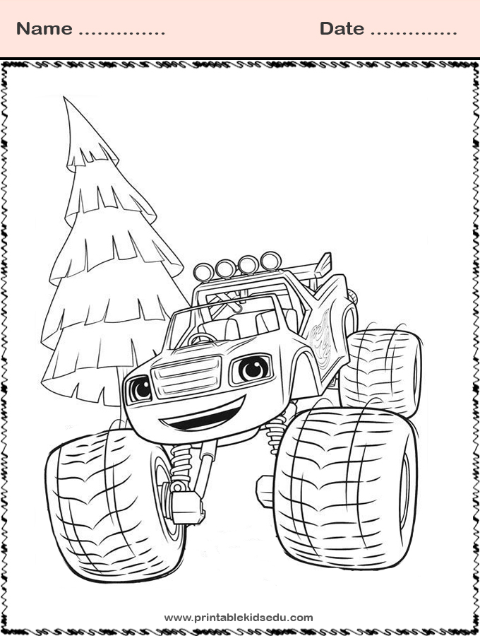 Printable Blaze and the Monster Machines Coloring Pictures