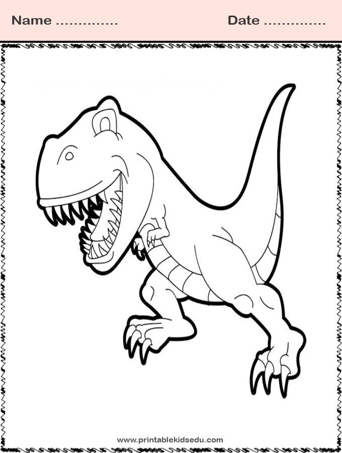Tyrex Dinosaurs Coloring Pages