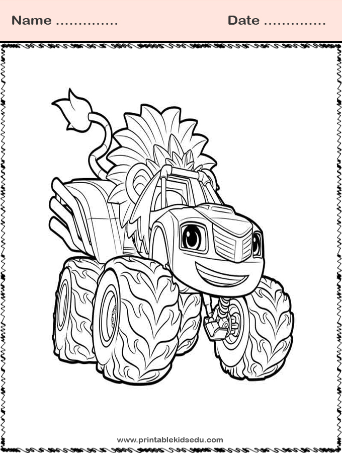 blaze and the monster machines coloring images