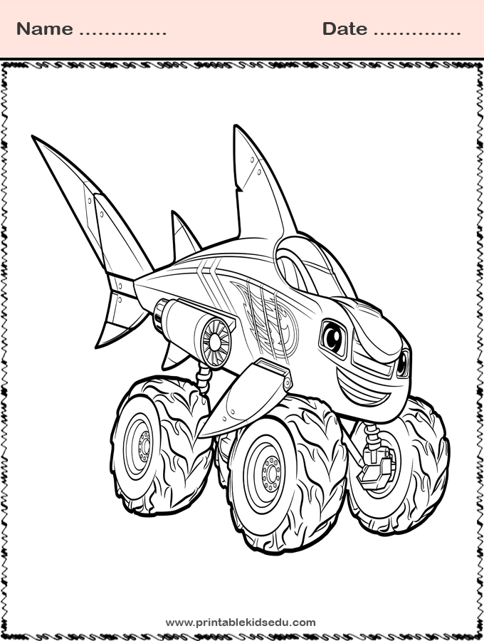 blaze and the monster machines coloring pictures