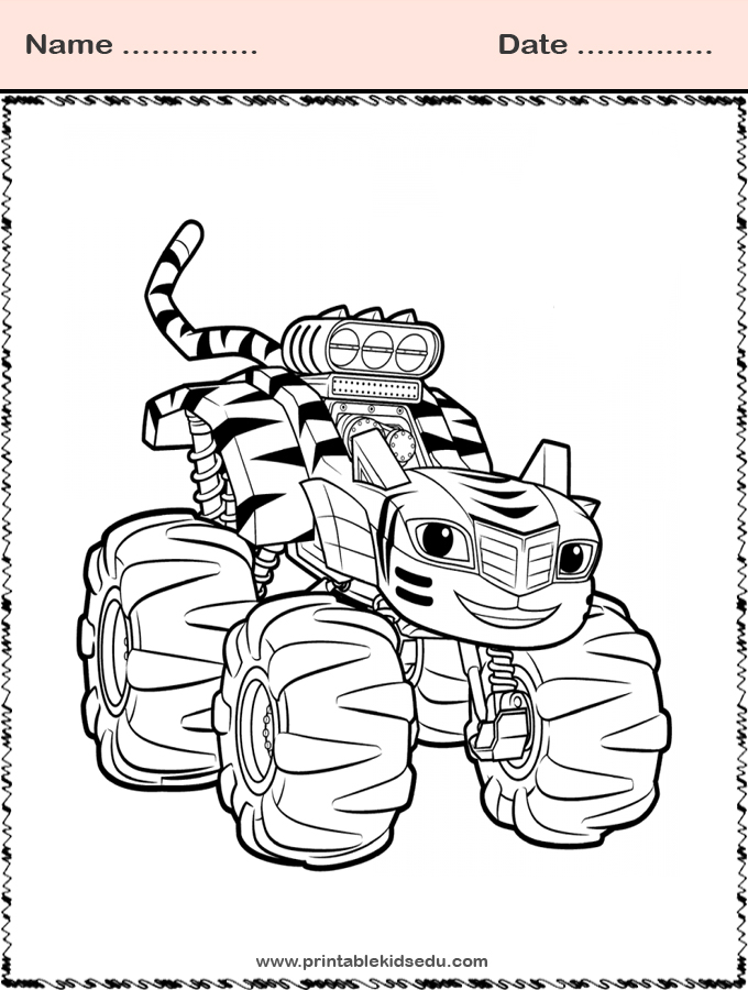 blaze and the monster machines coloring sheets