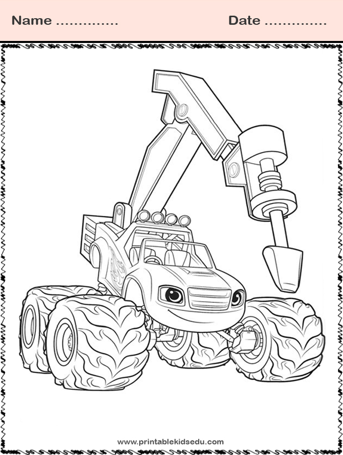 free printable blaze and the monster machines coloring
